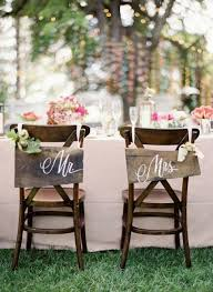 wedding chair signs mr and mrs wooden chair signs wedding chair signs and decor