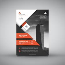 design flyer useful business brochure vector free