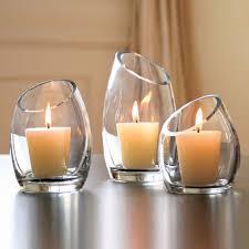 hearthstone diagonal cut glass candle holders modern candles