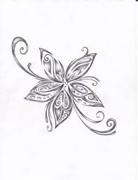 butterfly flowers design hanslodge cliparts