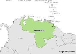 Where Is Venezuela On A Map Venezuela Graphicmaps Com