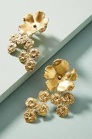 Chandelier Gold Earrings Gold Earrings For Women Drop Chandelier U0026 Posts Anthropologie