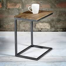 Small Side Table Suri Modern Industrial Small Side Table In Mango Wood Metal