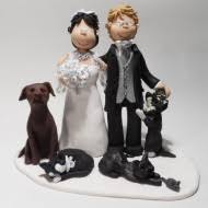 wedding cake topper with dog family pet cake toppers totally toppers