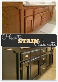 Refinishing Wood Cabinets Kitchen 4 Ideas How To Update Oak Wood Cabinets Dark Stains Java And