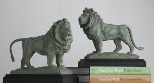lion bookends pair the museum shop of the institute of chicago
