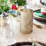 diy bronze floral tin can and mason jar centerpieces deer pearl