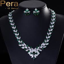 big necklace sets images Classic green bridal wedding costume jewelry african nigerian cz jpg