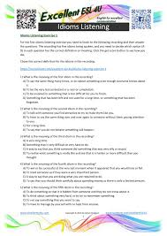 What Time Is It Worksheet Idioms Worksheets