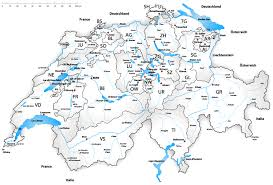 swiss map how many lakes does switzerland geography lounge all