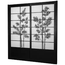 7 ft tall bamboo tree shoji sliding door kit roomdividers com
