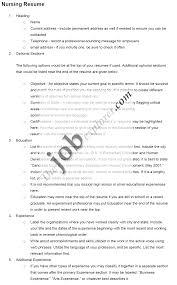 Resume Templates For Nursing Students Resume For Nursing Student Example Student Nurse Resume