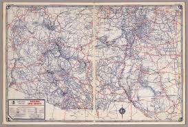 Maps New Mexico by Rand Mcnally Road Map Arizona New Mexico David Rumsey