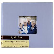 8 x 8 photo album 8 x 8 cloth scrapbook album by recollections