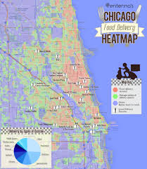 Chicago Maps by Chicago Food Delivery Heatmap By Www Rentenna Com Infographics
