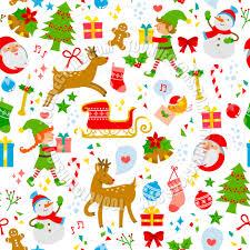 christmas symbols pattern by ayelet keshet toon vectors eps 124132