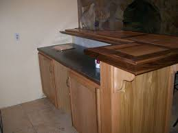 handmade wet bar made of red oak and walnut by f t c woodworks