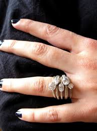 small fashion rings images Small oval engagement ring moissanite recycled palladium jpg