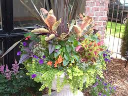 Summer Container Garden Ideas Fall Front Urn Ideas Summer Garden Urn Planter Design