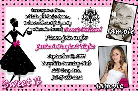 Invitation Card Message Sweet 16 Birthday Invitations Templates Free Sweet 16 Birthday