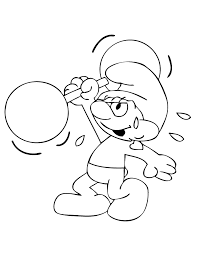 smurf coloring pages cute smurf with dumbbell coloring page h u0026 m coloring pages