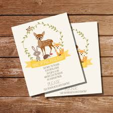 Baby Shower Invitations Bring A Book Instead Of Card Woodland Baby Shower Bring A Book Insert Card For A Boy Or