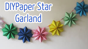 diy crafts paper stars garland ana diy crafts youtube