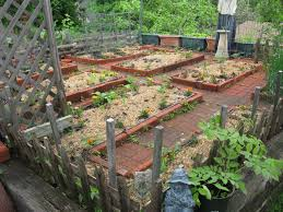 small diy patio vegetable garden house design with brick raised