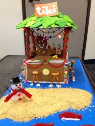 tiki gingerbread house we had a contest at work by dept and