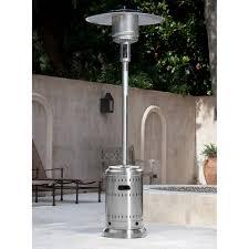 fire sense propane patio heater stainless steel 46 000 btu commercial patio heater