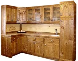 Rustic Circle Sawn Kitchen Cabinets The Log Furniture Store - Rustic pine kitchen cabinets