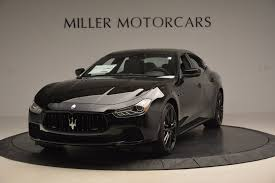 matte black maserati 2017 maserati ghibli nerissimo edition s q4 stock w478 for sale