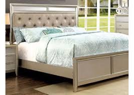 Silver Queen Bed Bodega Discount Furniture Briella Silver Mirror Panel Platform