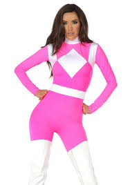 pink costumes women s dominance figure pink catsuit