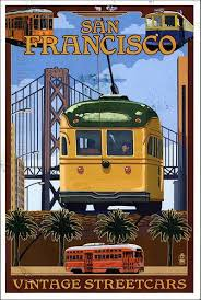 postcard from vejoyce usa san francisco travel posters and