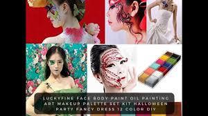 halloween makeup palette luckyfine face body paint oil painting art makeup palette set kit