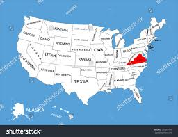 Map Of Usa Blank by Virginia State Usa Vector Map Isolated Stock Vector 309561884