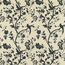 oriental garden natural charcoal floral wallpaper laura ashley
