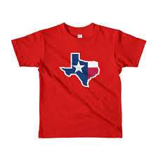 Red White Flag Texas Map T Shirt Graphic Tee State Star Flag Red White Blue Short