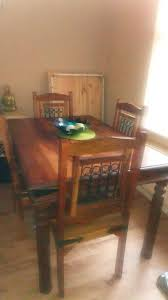 indian wood dining table indian wood dining table in nuthall nottinghamshire gumtree