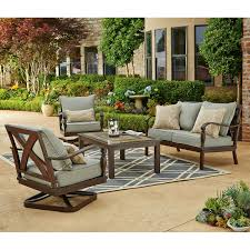 Agio 7 Piece Patio Dining Set - member u0027s mark park lane 4 piece seating set outdoor living