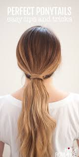 simple hairstyles with one elastic perfect ponytails how to use a hair bungee and hide your hair