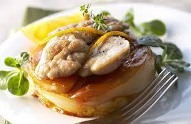 t駘駑atin recettes de cuisine ris d agneau sur tatin d endives à l orange recettes de cuisine