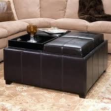 Living Room Table With Storage The Brick Ottoman Coffee Table Storage Ottoman With Tray Porch