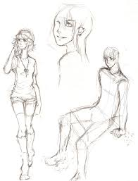 people sketches by ember snow on deviantart