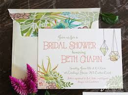 wedding shower invites succulent bridal shower invitations jen t by design