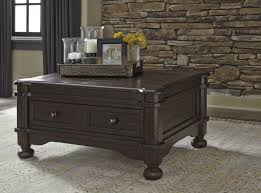 Ashley Furniture Bedroom End Tables Ashley Furniture T867 20 Gerlane Rustic Brown Casual Cocktail