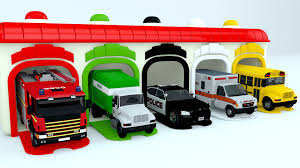 colors for children to learn with street vehicles colours for