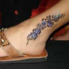 henna tattoo u2013 great henna ankle design tattooshunter com