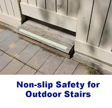 fix slippery outdoor stairs wood tile concrete u2013 no slip strip